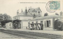 """/ CPA FRANCE 61 """"Condé Sur Huisne, La Gare"""" / CACHET AMBULANT - Other Municipalities"""