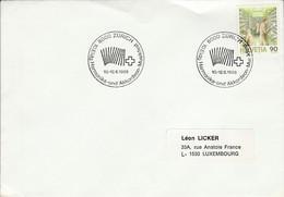 SUISSE 1988 FETE DE LA MUSIQUE HARMONICA  ACCORDEON - Poststempel