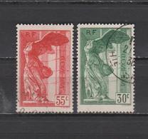 FRANCE  N° 354 & 355 = 2 TIMBRES OBLITERES   DE 1937       Cote : 100 € - Used Stamps