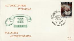 BELGIQUE FDC 1971 AUTOMATISATION DU TELEPHONE - 1971-80
