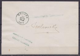 "L. En Franchise ""Arrondissements Commissiariaat Van Brugge-Oostende"" Càd BRUGES /22 OCTO 1881 Pour ASSEBROEK - 1893-1900 Thin Beard"