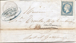 MEURTHE (52) LAC De VALLERYSTHAL (PERLE) PC 4478 Sur NAP Pour DAMAZAN Puis CONDOM + AMBULANT - 1849-1876: Classic Period