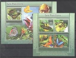 TG1213 2011 TOGO TOGOLAISE FAUNA BUTTERFLIES LES PAPILLONS 1KB+1BL MNH - Butterflies