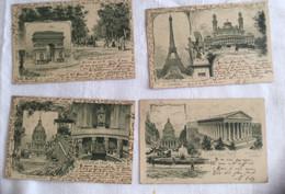 Lots De Quatre Cartes Souvenirs De Paris-581 - Altri Monumenti, Edifici