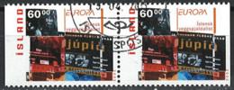 Iceland Island 2003. Mi.Nr. 1038 Dl/Dr Pair, Used O - Gebraucht