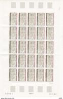 ANDORRE FEUILLE COMPLETE N° 316 - Unused Stamps