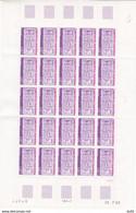 ANDORRE FEUILLE COMPLETE N° 318 - Unused Stamps