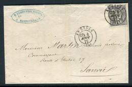 Lettre De Montivilliers Pour Sanvic En 1877, Affranchissement Du Havre - Ref M45 - 1877-1920: Semi-moderne Periode