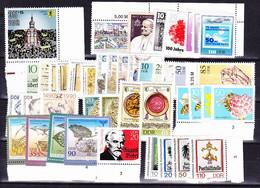 DDR GDR RDA - Jahrgang 1990 Komplett (MiNr: 3295/365) 1990 - Postfrisch, MNH ** - Unused Stamps