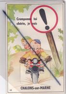 Châlons Sur Marne (51) Carte Fantaisie Avec Dépliant Mini Vue : Cramponne Toi Chérie,je Vois Châlons Sur Marne - Châlons-sur-Marne