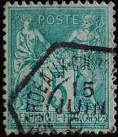 -Sage N°75 Type II  Ob  ( CAD  HEXAGONAL ) .BORDEAUX - 1876-1898 Sage (Tipo II)
