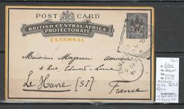 Entier Postal - British Central Africa Protectorate - 1900/1901 - KARONGA - - Nyasaland (1907-1953)