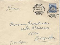 """11.VII.36 - Enveloppe  Affr. 30 C Oblot. """" CONFERENCE DE MONTREUX """" Pour La France - Cartas"""