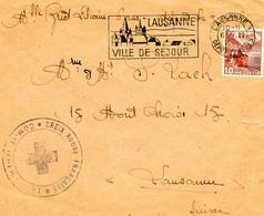 SUISSE-FRANCE.1945. CROIX-ROUGE SUISSE EN FRANCE.SECOURS AUX ENFANTS. - Covers & Documents
