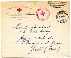 SUISSE-FRANCE.1945. LETTRE CROIX-ROUGE SUISSE EN FRANCE.SECOURS AUX ENFANTS. - Postmark Collection