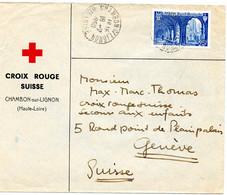SUISSE-FRANCE.1950. LETTRE CROIX-ROUGE SUISSE EN FRANCE.SECOURS AUX ENFANTS Pour GENEVE.. - Red Cross