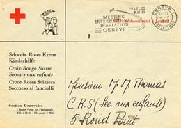 """SUISSE.1949. CROIX-ROUGE SUISSE.SECOURS AUX ENFANTS .""""MEETING  D'AVIATION-GENEVE..."""" - Covers & Documents"""