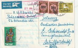 0515 / Israel - Lupo-Postkarte Nach Deutschland / € 1.00 - Covers & Documents