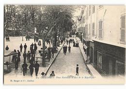 213 Berger Et Cie PLACE NATIONALE Et Rue De La REPUBLIQUE  TBE ANTIBES JUAN LES PINS  N218 - Antibes