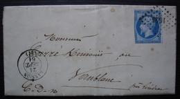 Lannion 1861 Pc 1643 Sur N°14, Lettre Pour Le Vaublanc, Près Loudéac - 1849-1876: Période Classique