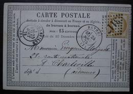 Rethel Ardennes 1875 Gc 3117 Carte Précurseur Pour Charleville - 1849-1876: Periodo Clásico