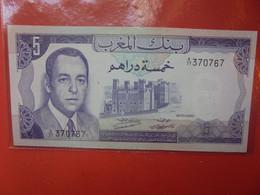 MAROC 5 DIRHAMS 1970 TRES PEU CIRCULER BELLE QUALITE (B.22) - Morocco