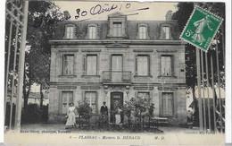 33 GIRONDE PLASSAC PERSONNAGES DEVANT MAISON HERAUD 1910 ANIMATION  JOLI   PLAN - Sonstige Gemeinden