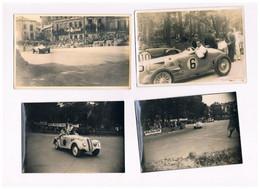 16 CIRCUIT DES REMPARTS 1947 ANGOULEME LOT 4 PHOTOS VOITURE BMW  BUGATTI ??? - Angouleme