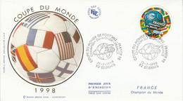 FDC 1998 FOOTBALL FRANCE 98 - 1990-1999