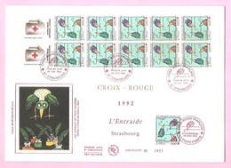 FRANCE 1992. FDC Croix-Rouge Française 1992 - Premier Jour. L' Entraide Strasbourg. Y&T N°2783. TB. - 1990-1999