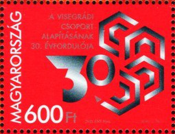 Hungary - 2021 - 30th Anniversary Of Visegrad Group (V4) - Mint Stamp - Unused Stamps