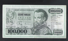 BANKBILJET 100.000 F. TAPIJTENKONING R. BAETENS  - DENDERMONDE  ( 27 Cm X 14 Cm )  (2 Scans) (BB 40) - [ 8] Finti & Campioni