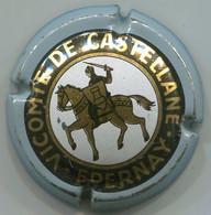 CAPSULE-CHAMPAGNE DE CASTELLANE-N°21 Contour Gris, Centre Blanc - De Castellane