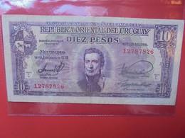 URUGUAY 10 PESOS 1939 Circuler  (B.22) - Uruguay