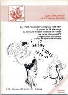 Club Marcophile De La Seconde Guerre Mondiale - Bulletin N° 32 - Décembre 1993 - Janvier 1994 - Military Mail And Military History