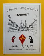 18879 - Militaire Suisse Fendant Luftschutz Regiment 21 Ls Bat 15,16,17 - Militaria
