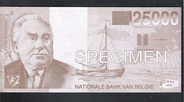 BANKBILJET 125000 FRANK - V S Z - AKTIEKOMITEE VLAAMSE SOCIALE ZEKERHEID ( 20,3 Cm X 9,7 Cm ) (2 Scans)   (BB 45) - [ 8] Finti & Campioni