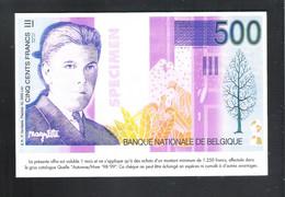 BANKBILJET   500 FRANK -  QUELLE  ( 18.5 Cm X 12 Cm ) (2 Scans)   (BB 48) - [ 8] Finti & Campioni
