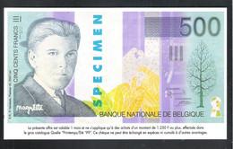 BANKBILJET   500 FRANK -  QUELLE  ( 20.5 Cm X 12 Cm ) (2 Scans)   (BB 50) - [ 8] Finti & Campioni