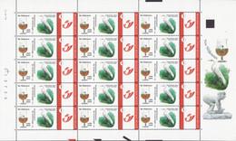 Buzin Zilverreiger Streekmuseum Slijkneus Compleet Vel Duostamps Mystamps - Personalisierte Briefmarken