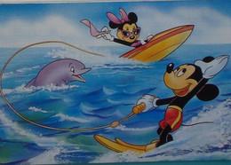 Petit Calendrier De Poche 1993 Illustration Disney Mickey Minnie  Dauphin - Coiffeur Leers Nord - Tamaño Pequeño : 1991-00