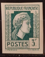 France 1944 Coq Et Marianne (d'Alger) N°642  ** TB Cote Maury 75€ - Ungezähnt