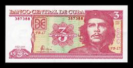 Cuba 3 Pesos Che Guevara 2005 Pick 127b SC UNC - Cuba
