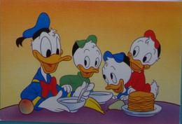 Petit Calendrier De Poche 1993 Illustration Disney Donald Et Neveux Crêpes - Coiffeur Guebwiller - Tamaño Pequeño : 1991-00