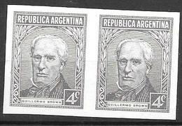 Argentina (no Hinge) IMPERF Pair - Unused Stamps