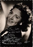 Cinéma - Acteur - Michèle Dorlan - Carte Du Studio Harcourt Dédicacée En 1947 - Actors