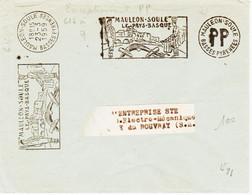 France, , Obliteration Mecanique Secap  En PP De Mauleon -soule  En 1959, Fabrication Locale  RR Et  TB - Annullamenti Meccanici (pubblicitari)