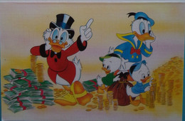 Petit Calendrier De Poche 1990 Illustration Disney  Donald Picsou - Sucy En Brie Val De Marne - Tamaño Pequeño : 1981-90