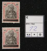 Nr. 12  Saargebiet Postfrisch - Settori Di Coordinazione