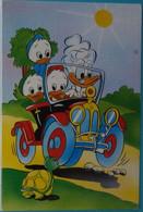 Petit Calendrier De Poche 1990 Illustration Disney  Neveux De Donald Grand-mère Voiture Tortue - Coiffeur Nilvange - Tamaño Pequeño : 1981-90